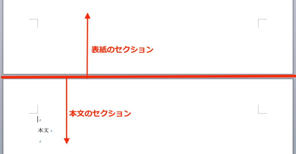 セクション区切りの説明